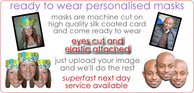 Ready To Wear Personalised Masks