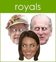 The Royal Family Cardboard Masks