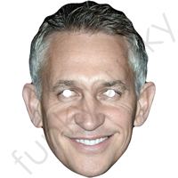 Gary Linekar Football Commentator Face Mask