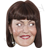Hilary Devey Dragons Den Celebrity Face Mask