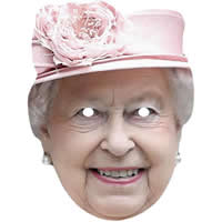 Queen Elizabeth 2 Pink Hat Mask