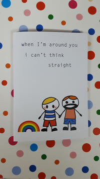 Cant Think Straight Gay Card