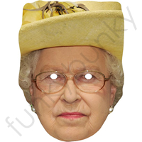 The Queen Of England  With Yellow Hat Mask