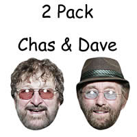 2 Pack - Chas & Dave Masks