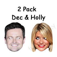 2 Pack - Dec & Holly Masks