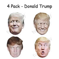 4 Pack - Donald Trump President Mask