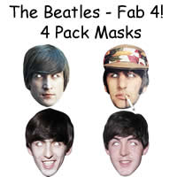 4 Pack - The Beatles Masks