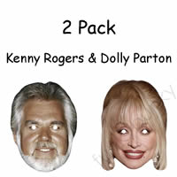 2 Pack - Kenny Rogers & Dolly Parton Mask