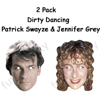2 Pack - Dirty Dancing Patrick and Jennifer Masks