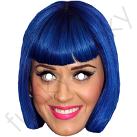 Katy Perry Mask - Blue Hair