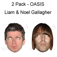 2 Pack - Oasis Gallagher Brothers Mask