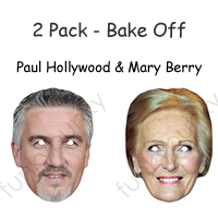 Paul Hollywood & Mary Berry Chef Mask