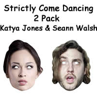 Katya Jones & Seann Walsh Masks
