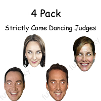 4 Pack - Strictly Come Dancing Judges Mask