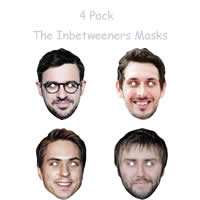 4 Pack - The Inbetweeners Masks
