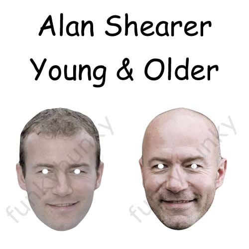 Young and Older Alan Shearer Masks